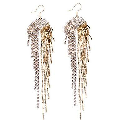 Damen Tropfen-Ohrringe Sexy überdimensional Bling Bling Aleación Linienform Schmuck Für Hochzeit Party Bühne