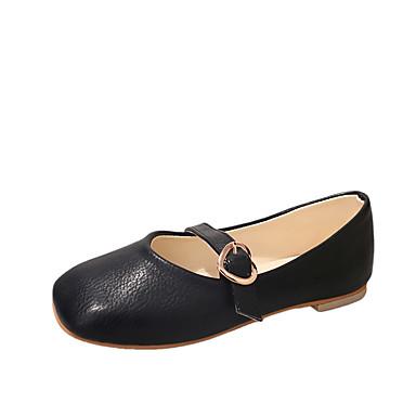Damen Sandalen Komfort Sommer Gummi Walking Schnalle Block Ferse Schwarz Beige Hellbraun Unter 2,5 cm