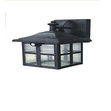 YF0127C Built-In Two Light-Emitting Diodes Solar Human Body Sensor Wall Lamp Split Classical Solar Metal Wall Lamp Corridor Lamp Antique Wall Lamp