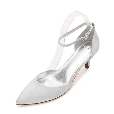 Escarpin Cheville Basique mariage Deux Chaussures Pièces Soirée Printemps amp; Satin de D'Orsay de 06135818 EtéMariage Femme Bride amp; Confort Iwqt0pW