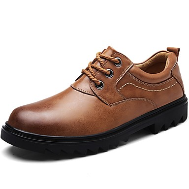 Men's Formal Shoes Nappa Leather Spring / Fall Oxfords Black / Light Brown / Party & Evening