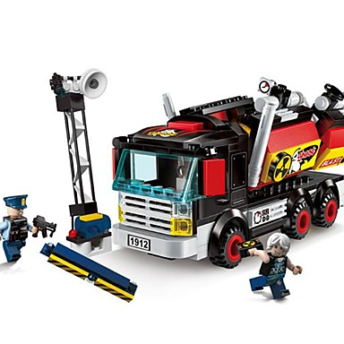 Bausteine Spielzeuge LKW Polizei Abs Unisex Stücke