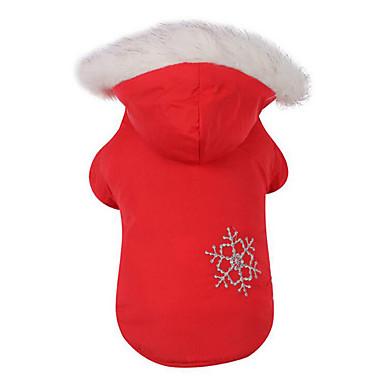 Hund Mäntel Hundekleidung Schneeflocke Kaffee Rot Baumwolle Daune Kostüm Für Haustiere Herrn Damen Lässig / Alltäglich