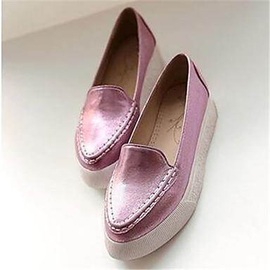 Damen Schuhe PU Frühling Komfort Loafers & Slip-Ons Für Normal Silber Rosa
