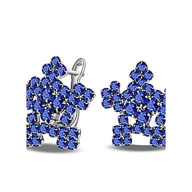 Damen Ohrstecker Imitation Diamant Modisch individualisiert Hypoallergen Klassisch Diamantimitate Zirkon Blumenform Schmuck FürHochzeit