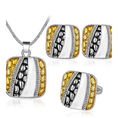Damen Tropfen-Ohrringe Halskette Ring Personalisiert Modisch Simple Style Hochzeit Party Geburtstag Verlobung Geschenk Alltag Zeremonie