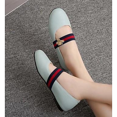 Damen Schuhe PU Frühling Komfort Flache Schuhe Für Normal Weiß Schwarz Rot Blau Rosa