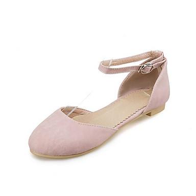 Damen Flache Schuhe Komfort PU Sommer Normal Beige Rosa Flach