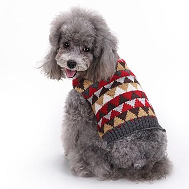 Cica Kutya Kabátok Pulóverek Karácsony Kutyaruházat Pléd / takaró Szürke Spandex Cotton/Linen Blend Jelmez Háziállatok számára Party