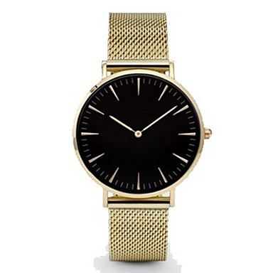 cheap Women's Watches-Men's Wrist Watch Gold Watch Quartz Black / Silver / Gold Casual Watch Analog Ladies Charm Casual Fashion Minimalist - Rose Gold Gold / White White / Gold One Year Battery Life