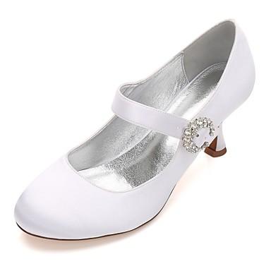mariage Satin Femme 06096614 Heel Mary Printemps Chaussures Eté Bas Basique Kitten Escarpin Chaussures Talon Jane Confort Talon de 1145Pnxwq