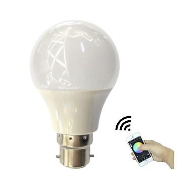4.5W 350 lm B22 Okos LED izzók 3 led Nagyteljesítményű LED Bluetooth APP vezérlés RGB + Meleg AC110-240