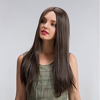 الاصطناعية الباروكات دون غطاء طويل سابل البيج شعر مستعار طبيعي زي الباروكات