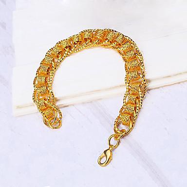 Férfi, Női Lánc & láncszem karkötők - Arannyal bevont Arany / Luxus