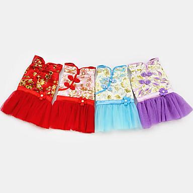 Hund Overall Hundekleidung Hochzeit Bestickt Purpur Rot Blau Rosa Kostüm Für Haustiere