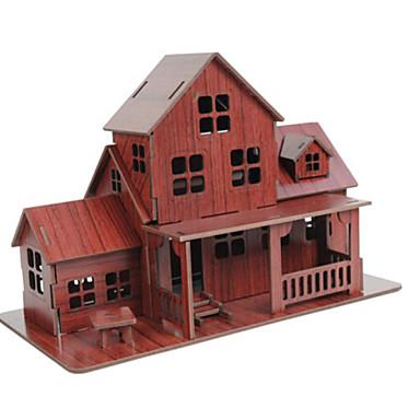 3D - Puzzle Holzpuzzle Haus Architektur 3D Naturholz Kindertag Jungen Unisex Geschenk
