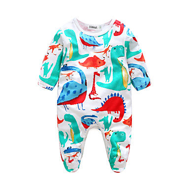 Baby Boys' Animal Print Long Sleeve 100% Cotton Overall & Jumpsuit Blue 18-24 Months(95cm)