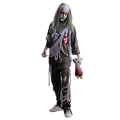 Skelett/Totenkopf Zombie Cosplay Cosplay Kostüme Mann Unisex Halloween Karneval Tag der Toten Fest/Feiertage Halloween Kostüme Vintage