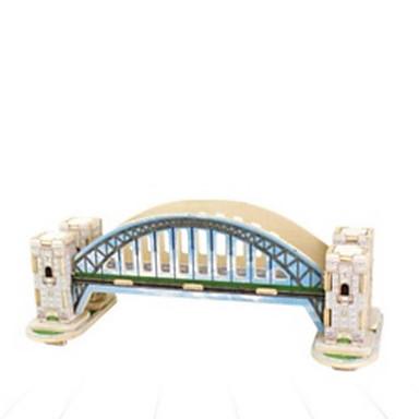 3D építőjátékok Fejtörő Wood Model Népszerű épület DIY Fa Gyermek Uniszex Ajándék