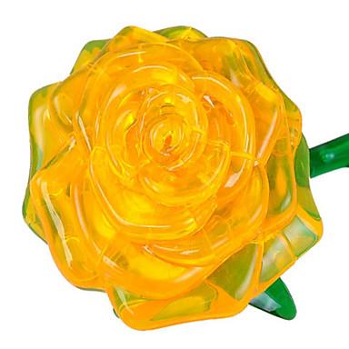 3D építőjátékok Fejtörő Rózsák DIY Műanyagok Uniszex Ajándék