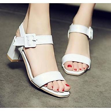 Damen Schuhe PU Sommer Komfort High Heels Für Normal Weiß Schwarz Rosa Hautfarben