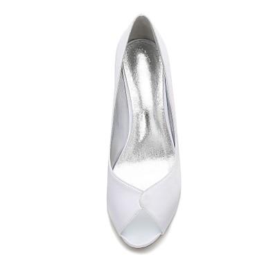 Bas Heel Satin Chaussures Printemps Talon 06074355 Chaussures Bout Kitten Eté ouvert Femme Aiguille de mariage Confort pour Talon Combinaison wPRFHXq