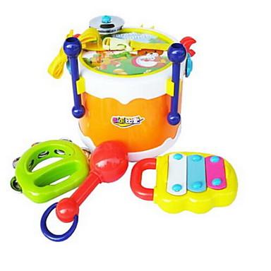 إكسيليفون أدوات لعبة ألعاب لهو دائري مربع عدة الطبل أدوات الموسيقى مجموعة طبول البلاستيك بلاستيك صلب قطع طفل للجنسين هدية