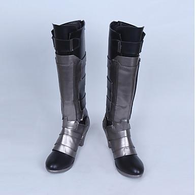 Cosplay أحذية تأثيري أحذية من المراقبة من جانب الكوسبلاي أنيمي Cosplay أحذية جلد PU جلد جلد البولي يوريثان للبالغين للجنسين