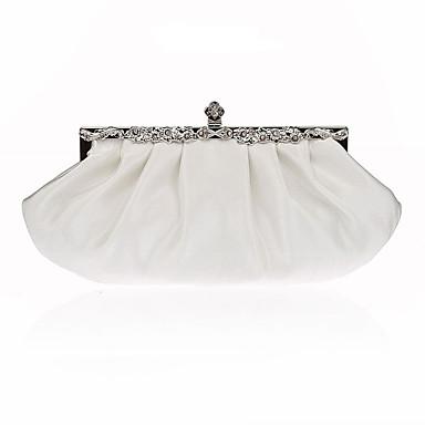 Női Táskák Poliészter Estélyi táska Kristály díszítés / Fodrozott Fukszia / Bor / Tengerészkék / Esküvői táskák / Esküvői táskák