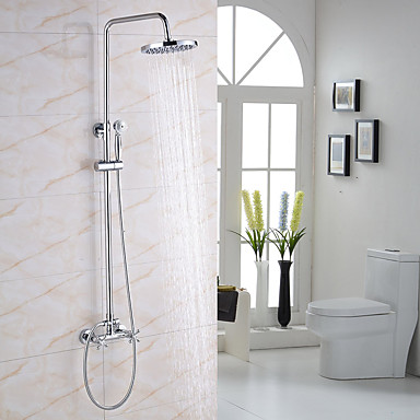 Shower Faucet - Modern / Contemporary Chrome Shower System