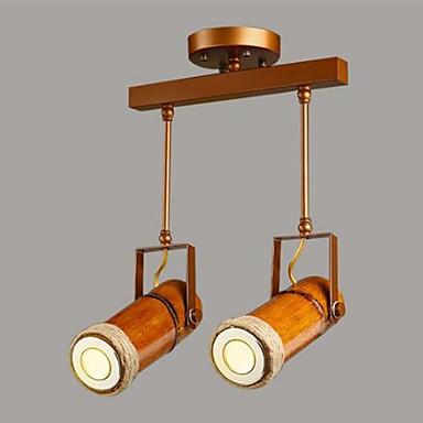 2-Light spot Light Háttérfény Festett felületek Fém Fa / Bambusz A tervezők 220-240 V Az izzó tartozék / GU10