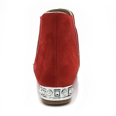 Bout Talon Botillons Bas Cuir Bottes Demi Botte pointu Hiver Nubuck Imitation à 06221780 Bottine Bottes Automne Chaussures Mode Femme la zx7PpOq7