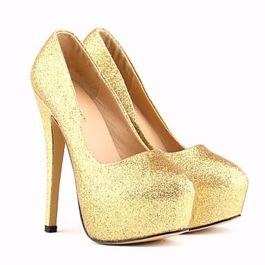84b34c558 Pump Tacones Tacón Zapatos Pu Puntiagudo Verano Dedo Dorado Stiletto Básico Plateado  Mujer tXxSawqX