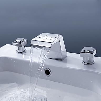 Banyo Lavabo Bataryası - Şelale Yağlı Bronz Lavabo Teknesi Tek Delik Tek Kolu Bir Delik