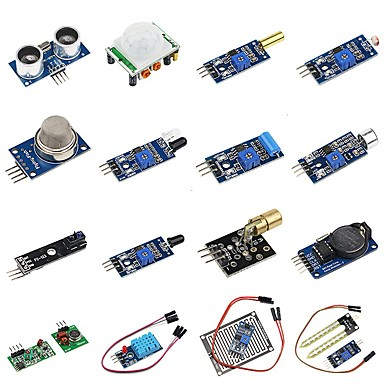 DIY 16 in 1 Sensor Module Kit for Raspberry Pi