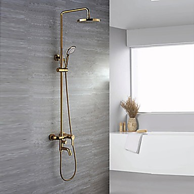 Shower Faucet - Luxury Glam Ti-PVD Wall Mounted Ceramic Valve