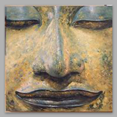 Oil Painting Hand Painted - People Artistic Canvas / Stretched Canvas