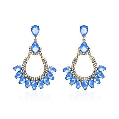 Női Szintetikus gyémánt Strassz Függők - Klasszikus / Hip-Hop Kék Geometric Shape Fülbevaló Kompatibilitás Karácsony / Klub