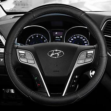 Kormányvédők Bőr 38 cm Fekete / Vörös / Fekete / Fehér / Fekete / Kék For Hyundai Mistra Minden évjárat