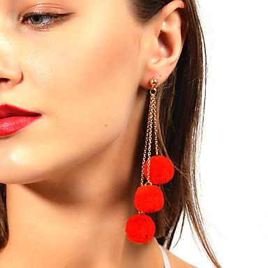 Női Függők - Bojt / aranyos stílus Piros / Rózsaszín / Tengerészkék Kör Fülbevaló Kompatibilitás Karácsony / Születésnap / Ajándék