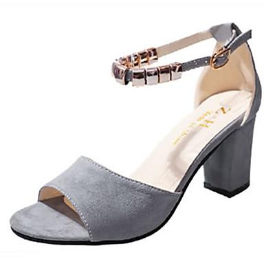Confort Sandalias Tacón Verano Cuadrado Mujer Zapatos Punta Goma PXZwiTOuk