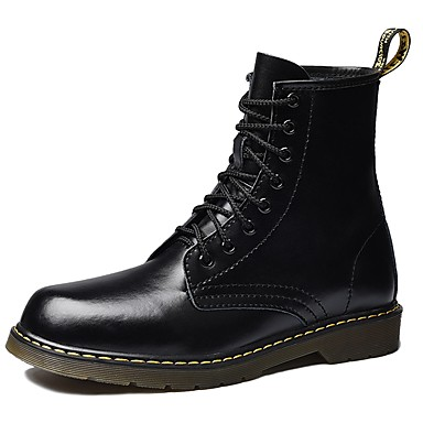 Férfi cipő Bőr Tél Katonai csizmák Csizmák Fekete / Kávé / Burgundi vörös