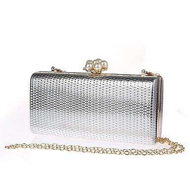 Women's Bags PU(Polyurethane) Evening Bag Pearls Black / Silver / Red