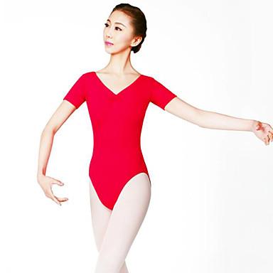 Ballet Women's Performance Nylon Short Sleeves Natural Leotard / Onesie