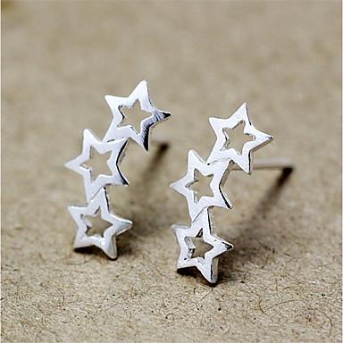Női Beszúrós fülbevalók - Ezüst Zvijezda Személyre szabott, Divat Ezüst Kompatibilitás Napi Hétköznapi