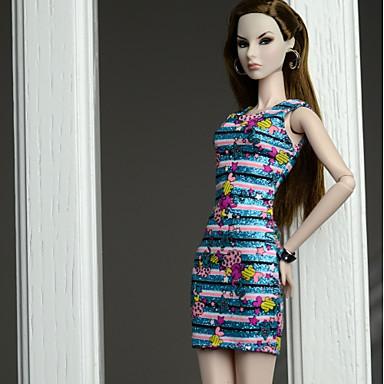 Ruhák Ruhák mert Barbie baba Selyem/pamut keverék Ruha mert Lány Doll Toy