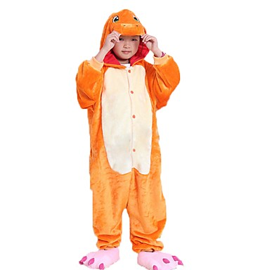 Kid's Kigurumi Pajamas Dragon Onesie Pajamas Flannel Fabric Cosplay For Boys and Girls Animal Sleepwear Cartoon Halloween Festival / Holiday