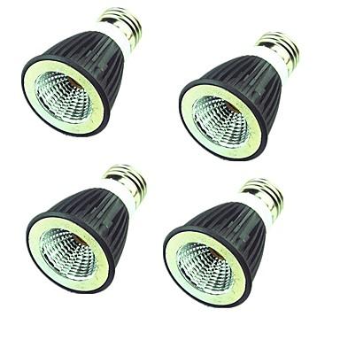 4pcs 7W 550lm LED Spotlight MR16 1 LED Beads COB Decorative Warm White Cold White 220V