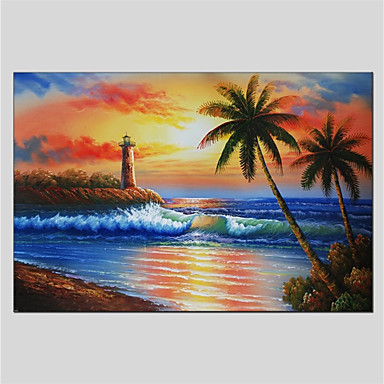 Oil Painting Hand Painted - Landscape Comtemporary Stretched Canvas