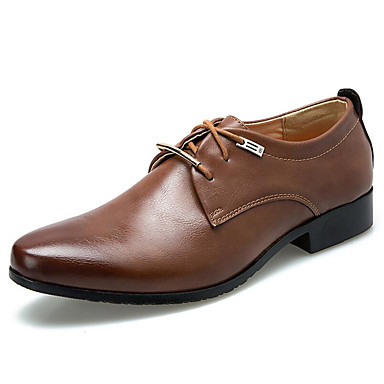Men's Formal Shoes PU(Polyurethane) Fall / Winter Oxfords Black / Brown / Party & Evening / Dress Shoes